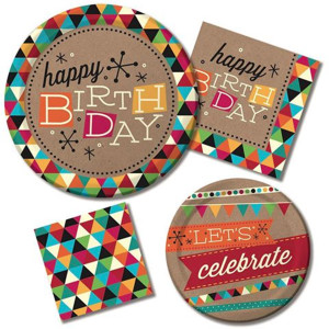 Birthday Kraft General Party Supplies
