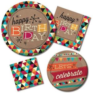 Birthday Kraft General Party Supplies