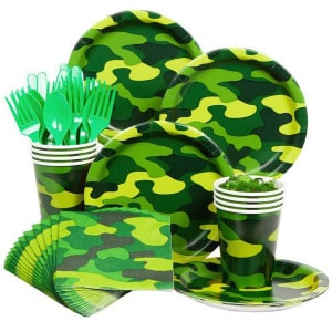 Camo Gear Birthday Party Supplies
