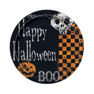 Checkered Halloween Party Supplies