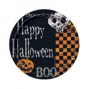 Checkered Halloween Party Supplies