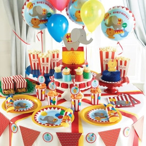 Circus Time First Birthday Party Supplies