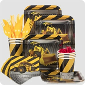 Construction Zone Boy's Birthday Party Supplies