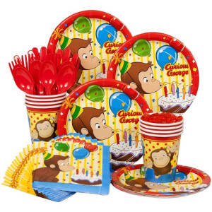 Curious George Boy's Birthday Party Supplies
