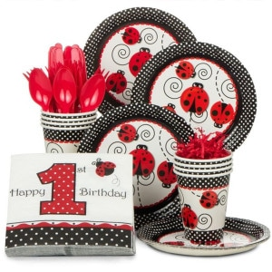 Ladybug Fancy First Birthday Party Supplies