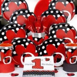 Ladybug Fancy Girl's Birthday Party Supplies