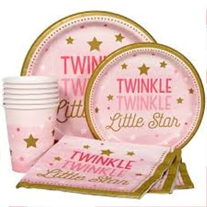 One Little Star Girl Baby Shower Party Supplies