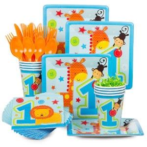 """""""One"""" Wild Boy First Birthday Party Supplies"""