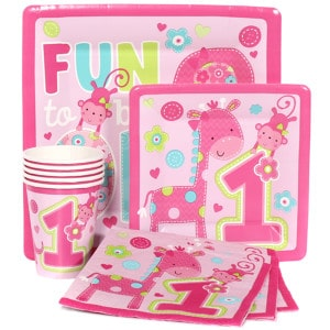 """One"" Wild Girl First Birthday Party Supplies"