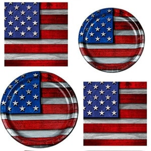 Patriotic Steel General Birthday Party Supplies