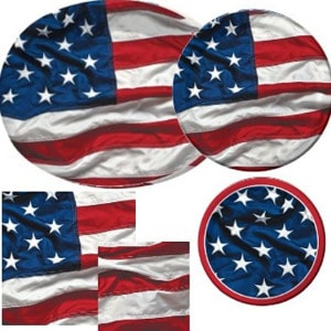 Patriotic Symbol General Birthday Party Supplies