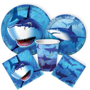 Shark Splash Boy's Birthday Party Supplies