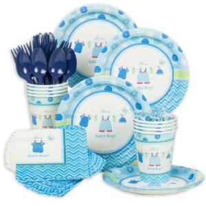 Showered With Love Boy Baby Shower Party Supplies