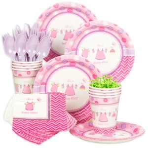 Showered With Love Girl Baby Shower Party Supplies