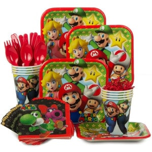 Super Mario Party Boy's Birthday Party Supplies
