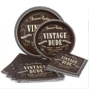Vintage Dude General Birthday Party Supplies