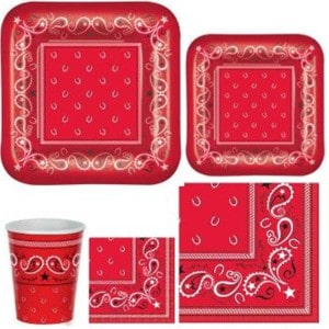 Western Bandana General Birthday Party Supplies