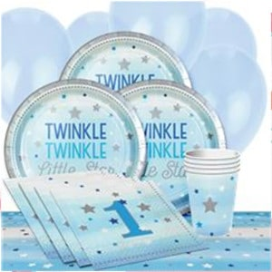 One Little Star Boy Baby Shower Party Supplies