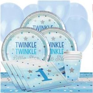 One Little Star Boy Baby Shower Party Supplies