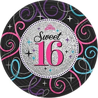 Sweet 16 Celebration General Birthday Party Supplies