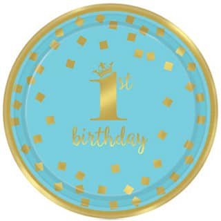 Blue and Gold 1st Birthday Party Supplies