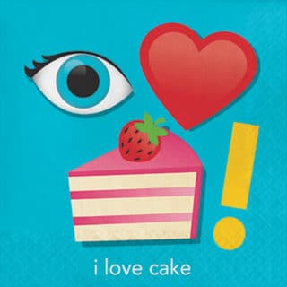 I Love Cake General Birthday Party Supplies