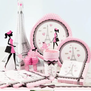 Paris General Birthday Party Supplies